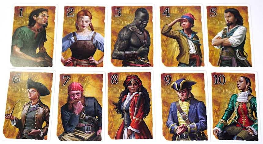 Ship Shape bidding cards 1-10
