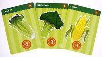 vegetable cards: Celery, Broccoli, Corn