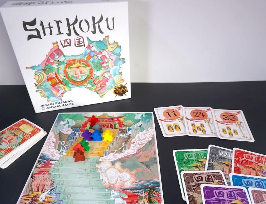 Shikoku game components