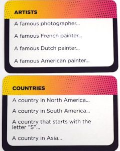 Think N Sync Cards: Artists and Countries