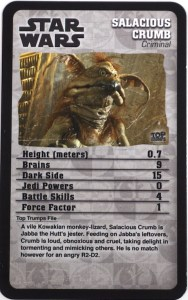 Top Trumps: card from Star Wars deck