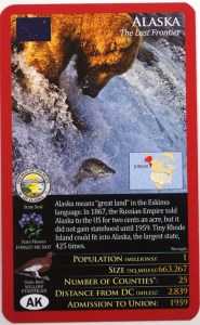 Top Trumps United States card: Alaska