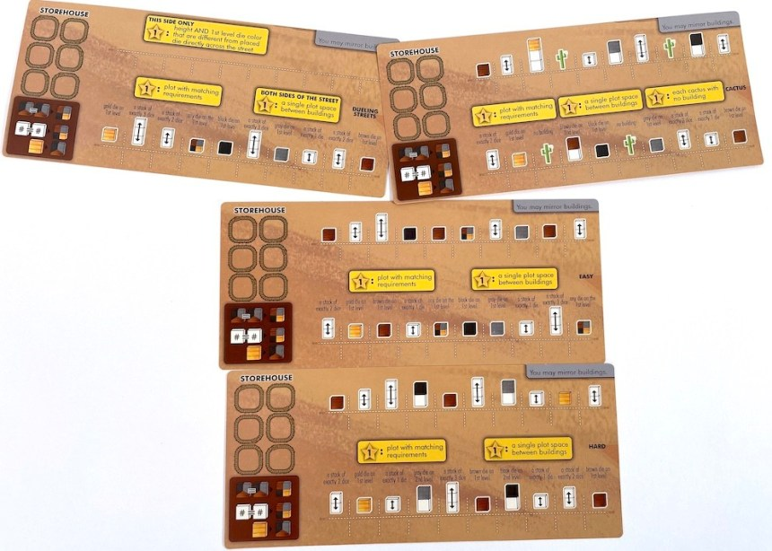 Main Street layout mats from Tumble Town game