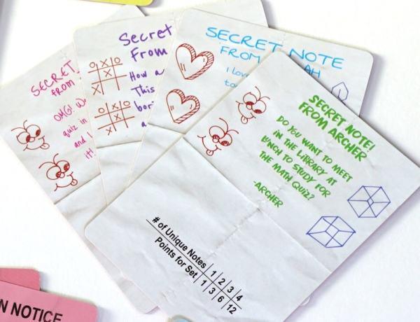 Trapper Keeper Game: Secret Notes