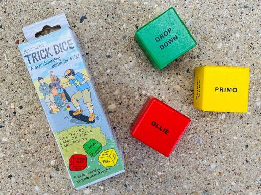 Jortner's Trick Dice - a skateboarding  game