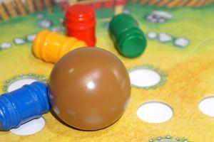 Ball knocking over barrels
