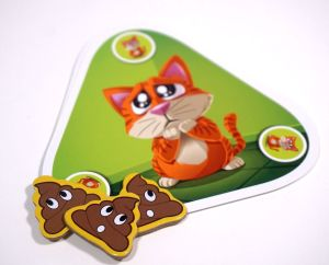 Who Did It? cat with poop tokens