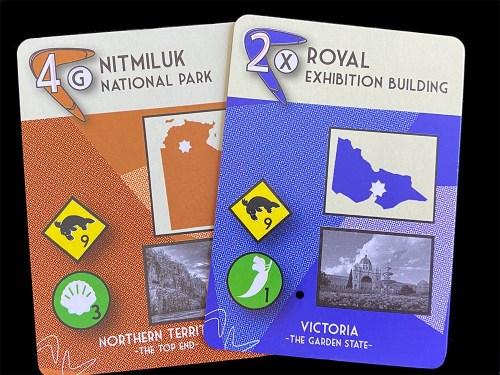 Boomerang cards: Nitmiluk National Park, Royal Exhibition Building