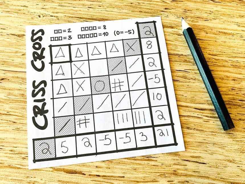 Criss Cross scoring
