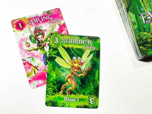 Spring fairy (1) card covered by Summer fairy (3) card