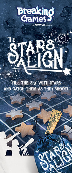 Breaking Games: The Stars Align. Fill the sky with stars and catch them as they shoot!