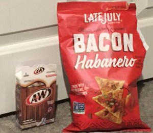 A&W on the go packets, Late July Bacon Habanero chips