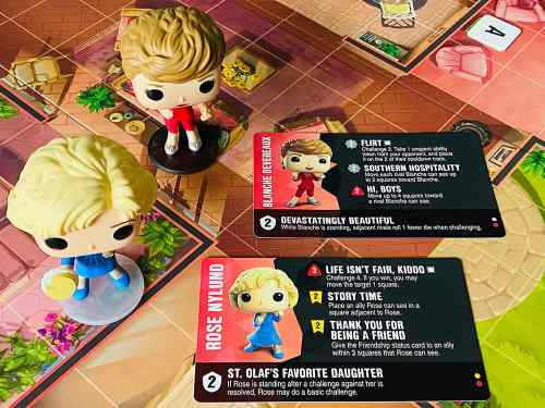 Funkoverse Golden Girls Rose and Blanche and abilities