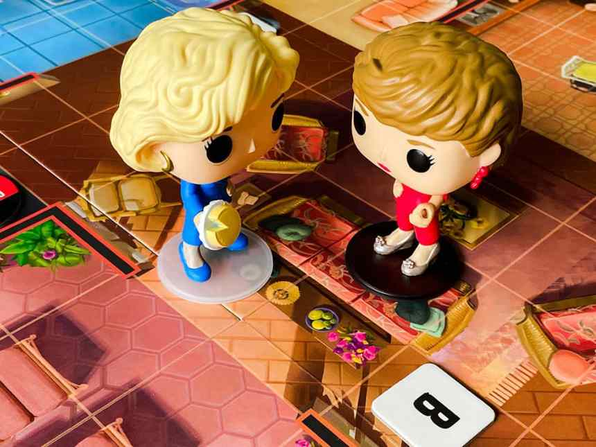 Funkoverse Golden Girls Rose and Blanche entering a challenge battle