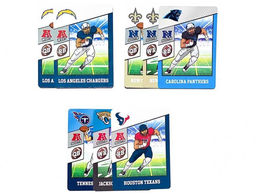 NFL Trade$ card game scoring scoring example