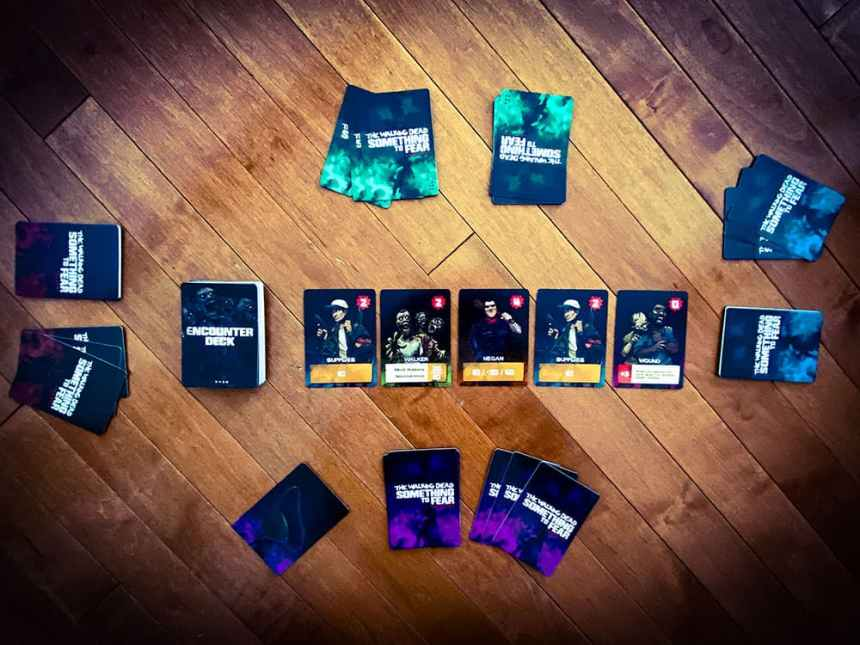 The Walking Dead Something To Fear Card Game Setup