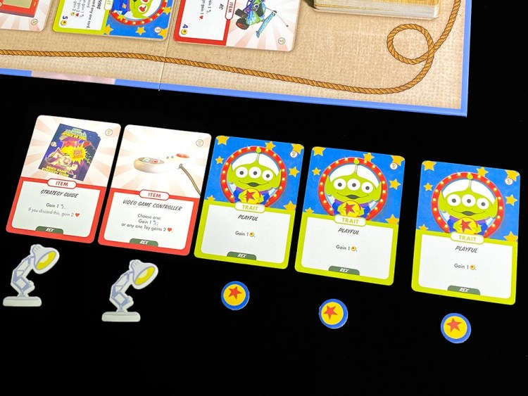 Toy Story Obstacles & Adventures playing a hand and gaining resources