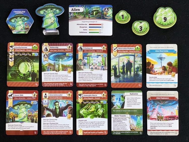 Unfair Alien pack cards