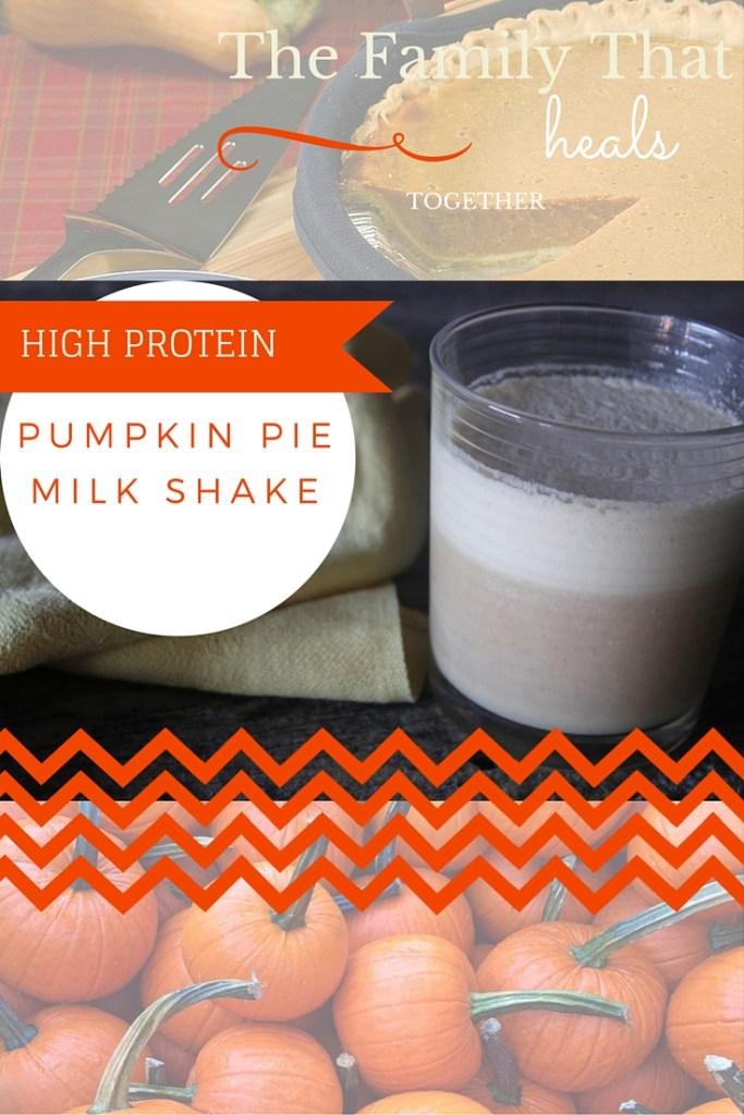 Pumpkin Pie Milkshake- High protein and primal with raw milk, raw honey and spicey pumpkiny goodness!