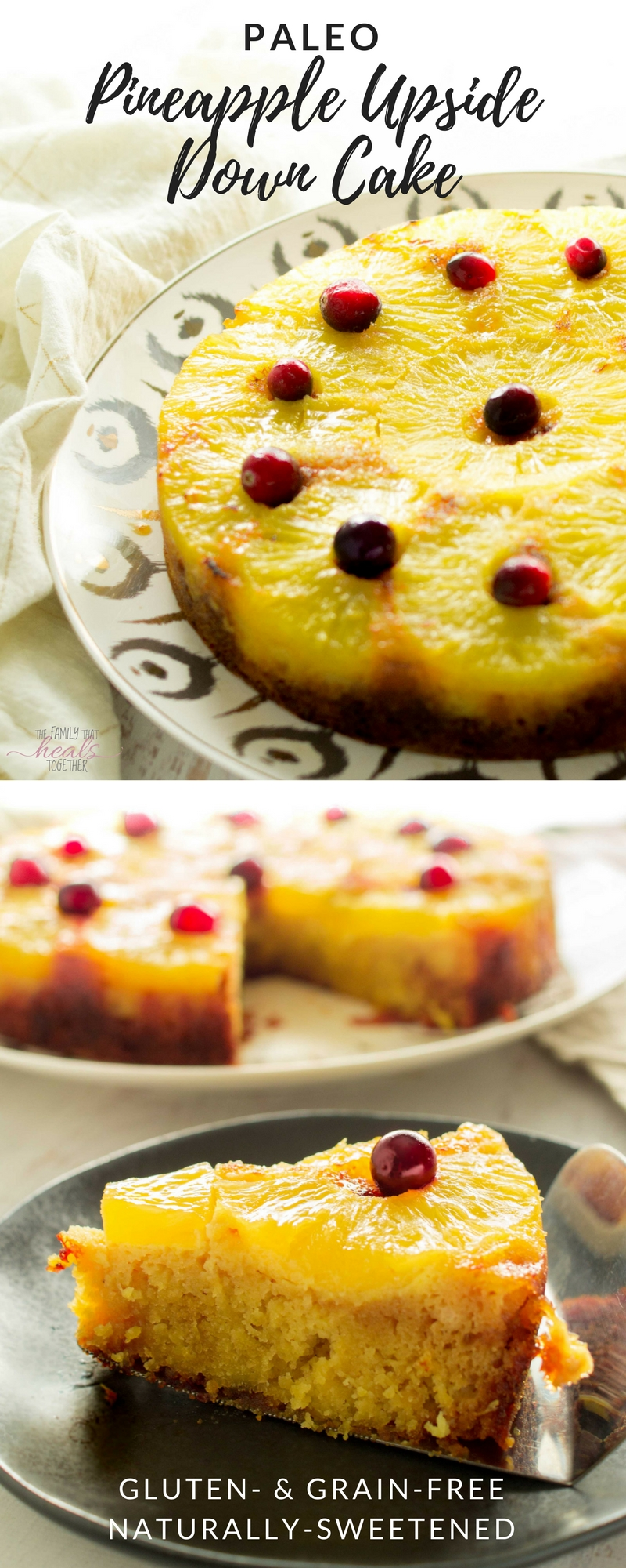 Pineapple has such a nice flavor profile. It can lend itself nicely to savory recipes like pizza or pork, and it makes a delightful sweets like this pineapple cake recipe, our family's favorite paleo and gaps pineapple upside down cake. From The Family That Heals Together