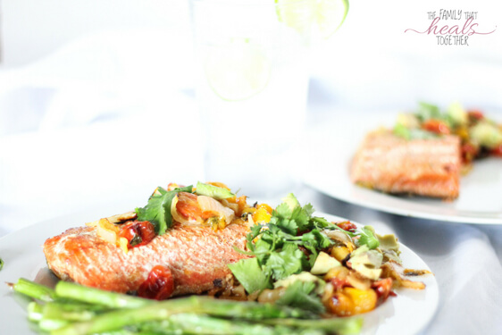 Salmon with Mango Salsa | Paleo + Keto + GAPS | The Family That Heals Together