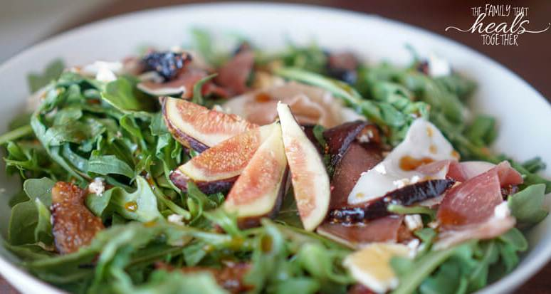 Roasted Fig Salad with Prosciutto and Feta