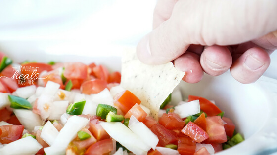 Salsa Dip Recipe Made with Lacto Fermentation | The Family That Heals Together