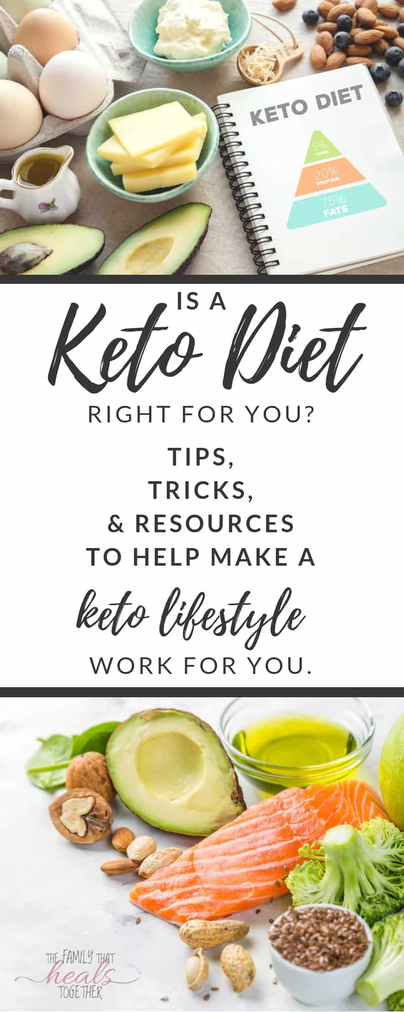 Is the keto diet right for you? These keto diet tips will help! Tricks, tips, and resources to help you with your keto diet lifestyle from The Family That Heals Together