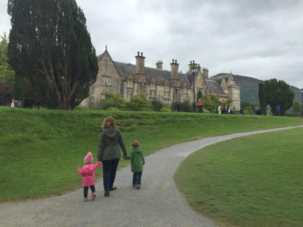 muckross estate with kids