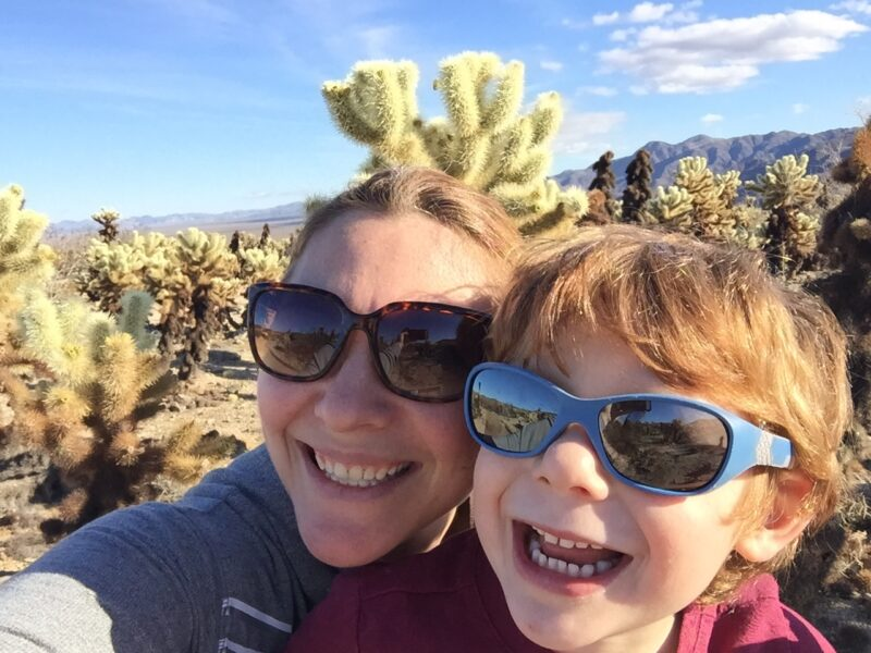 cholla garden with kids