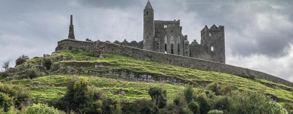 Rock of Cashel with kids