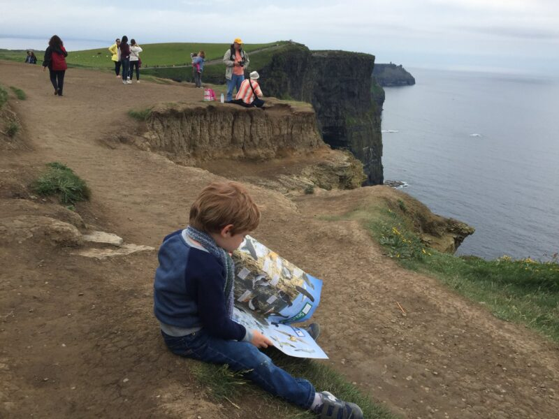 Sitting on the Cliffs of Moher