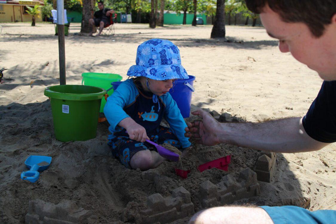 Luquillo Beach Puerto Rico with kids