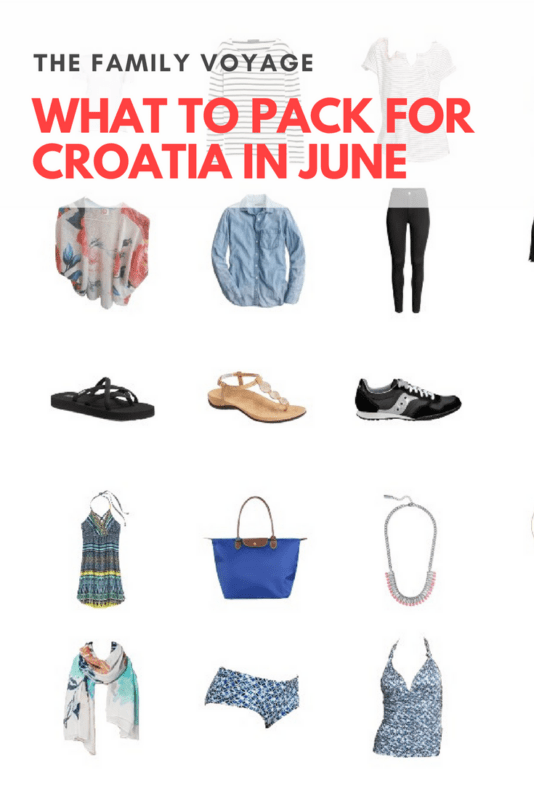 Stuck on what to pack for Croatia in June? Check out our travel capsule wardrobe for summer in Croatia. Pack light for easier travel.