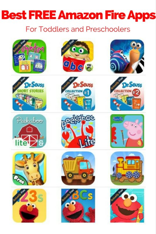 Are you looking for the best Amazon Fire apps for toddlers or preschoolers? See why the Fire is the best toddlers tablet. #kids #tablets #thrifty