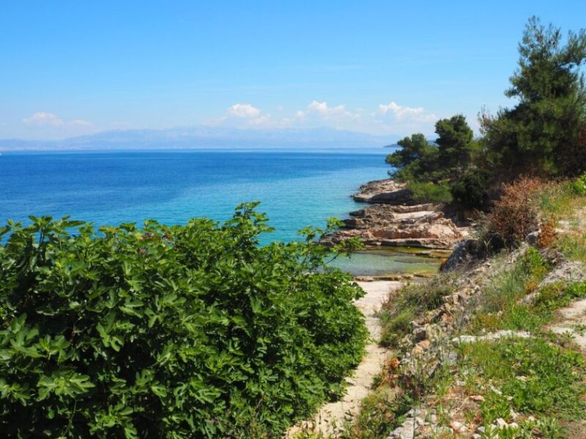 Just a secluded cove on Solta, Croatia surrounded by amazing blue water