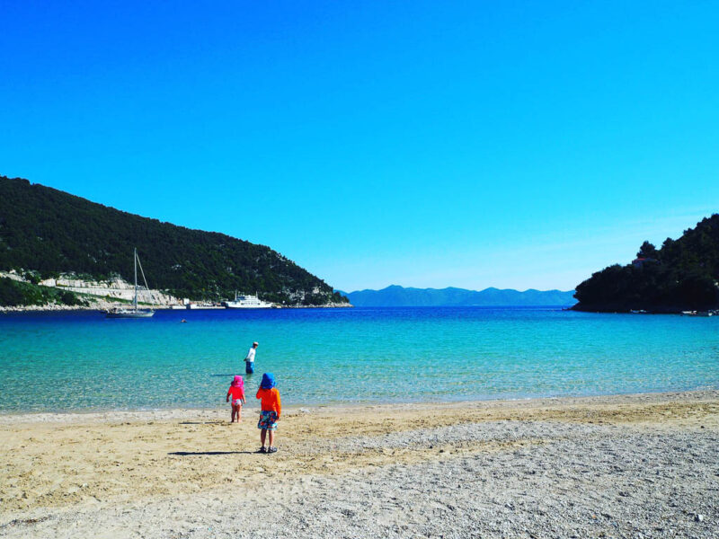 Prapratno Beach on the Peljesac Peninsula, one of the best beaches in Croatia thanks to its seclusion