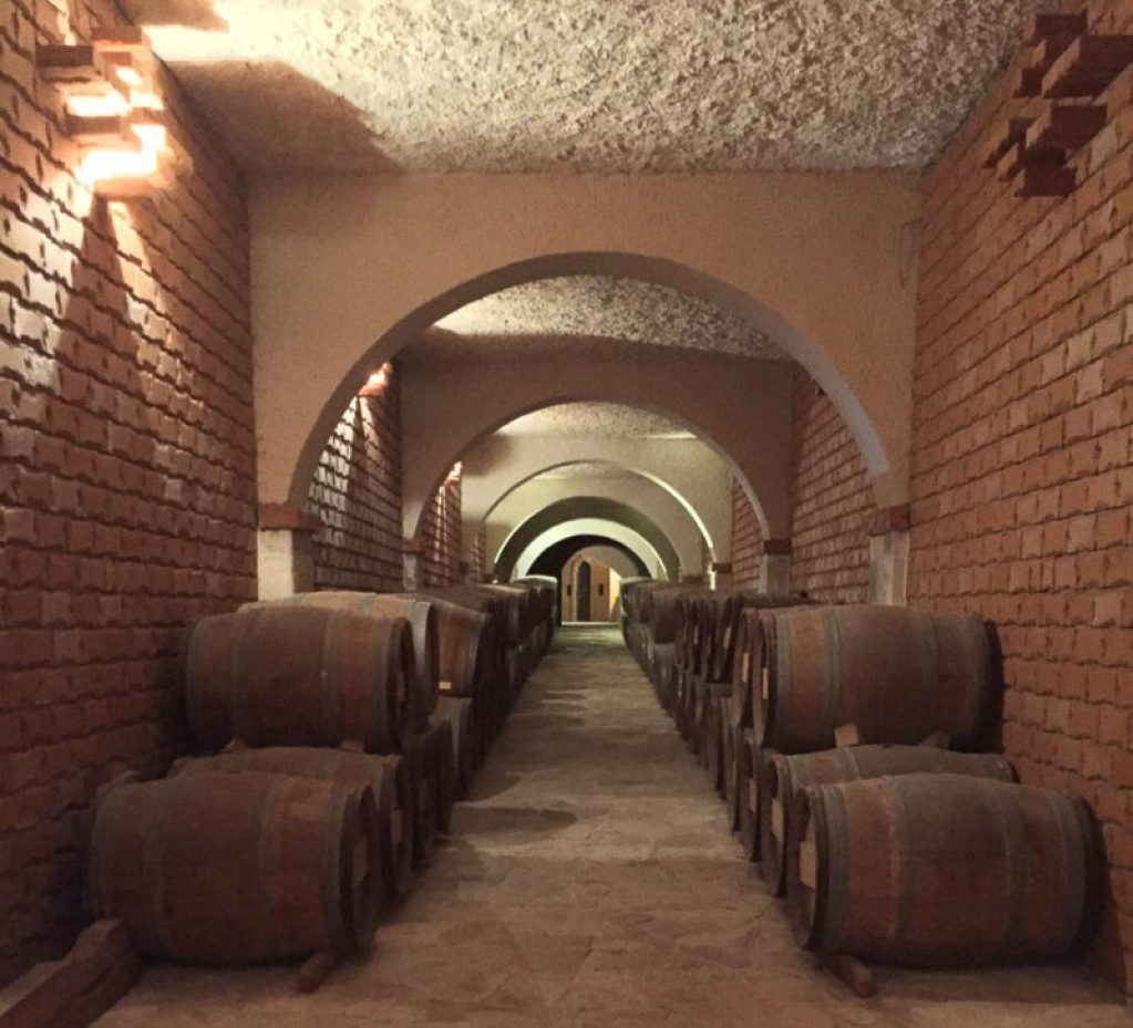 cellars at Matusko Winery making Dalmatian wine in Croatia