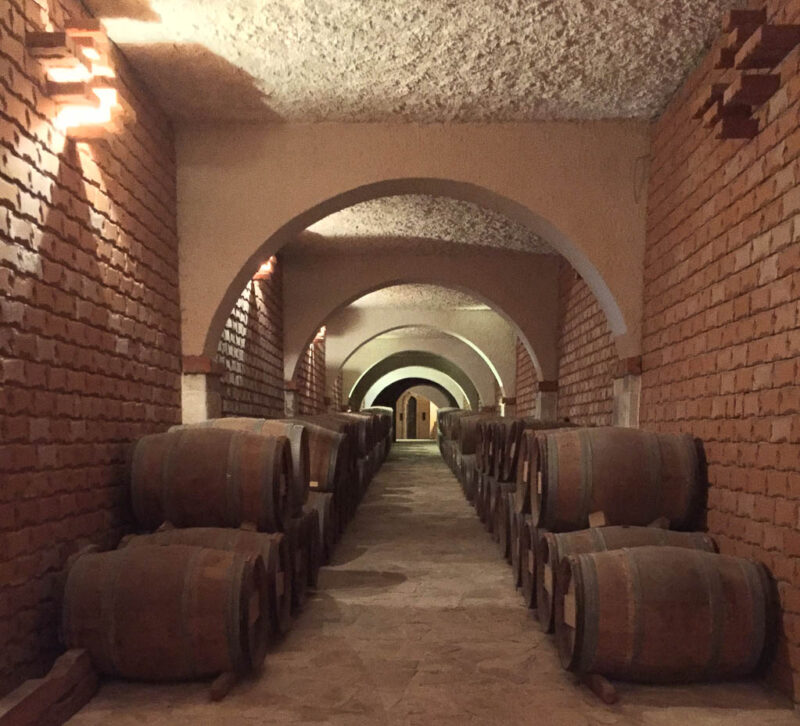 cellars at Matusko Winery making Dalmatian wine in Croatia