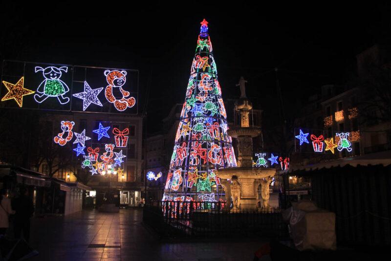Christmas lights in Seville
