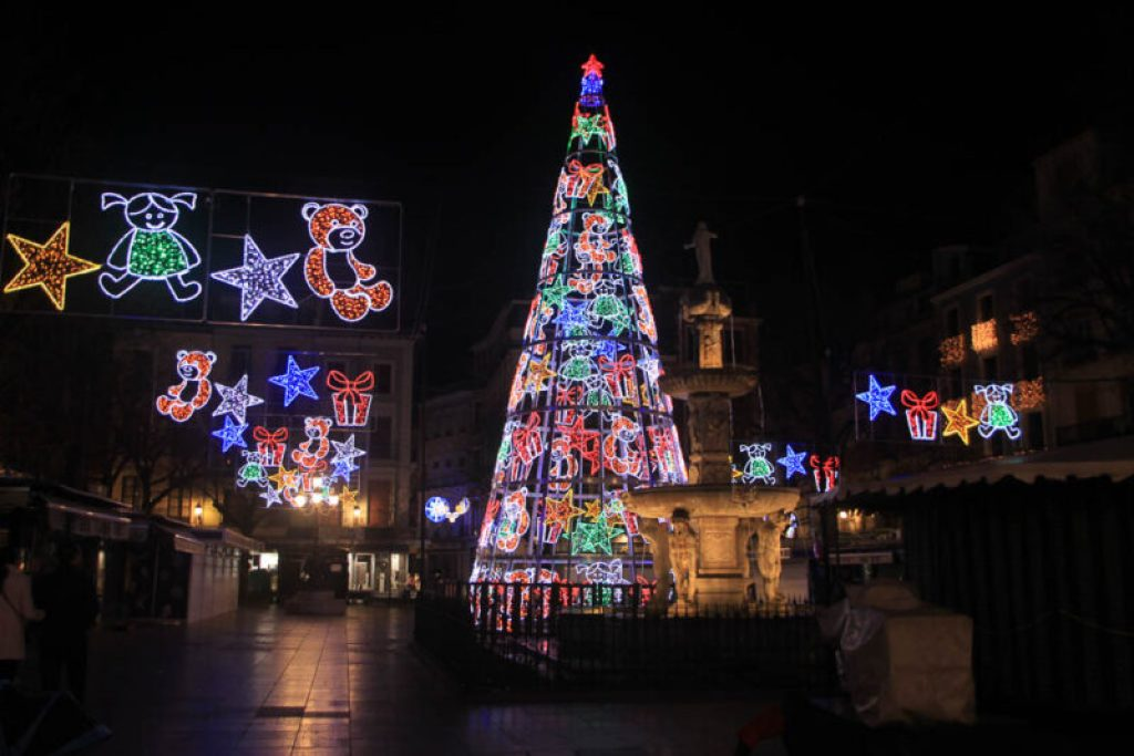 Christmas lights in Seville