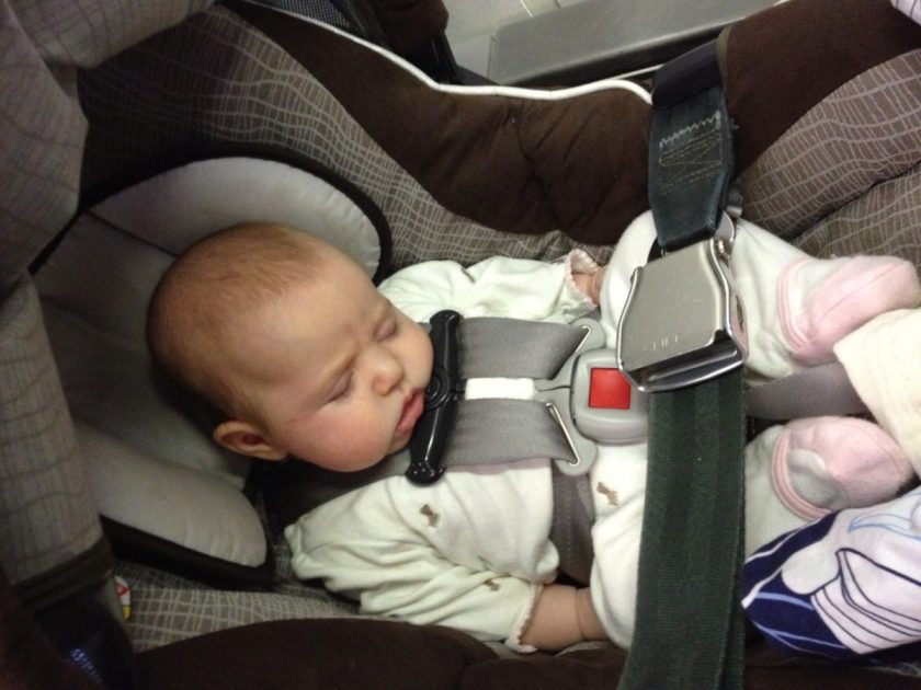 Checking Infant Car Seat Airplane