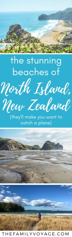 Looking for inspiration for your North Island, New Zealand trip? If you're visiting in summer, don't miss these gorgeous beaches! #NewZealand #NorthIsland #travel #familytravel #beach #travelinspiration