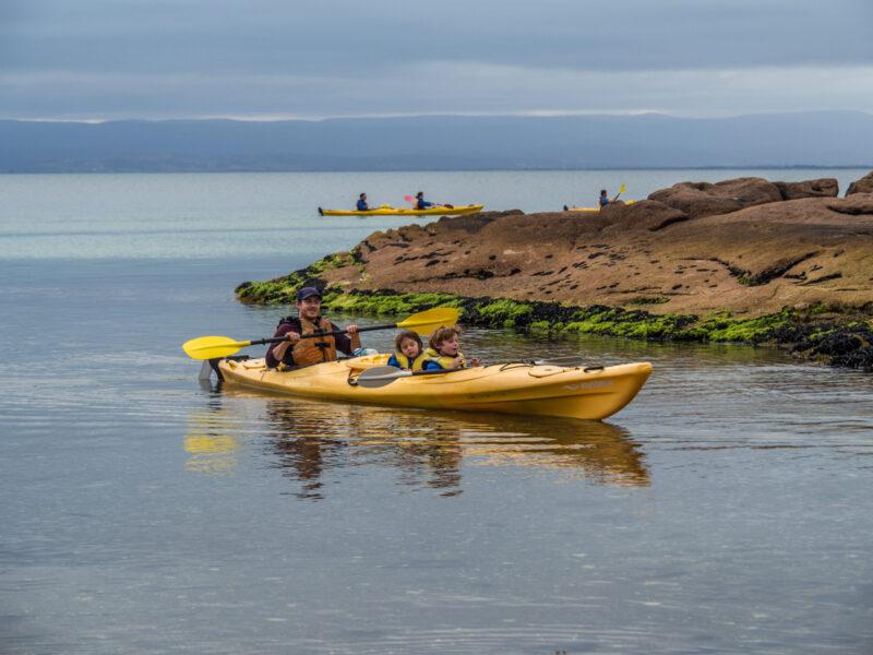 Coles Bay, Tasmania kayaking with kids