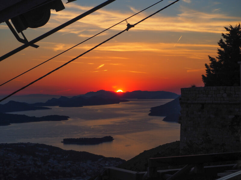 Dubrovnik sunset: dubrovnik croatia things to do