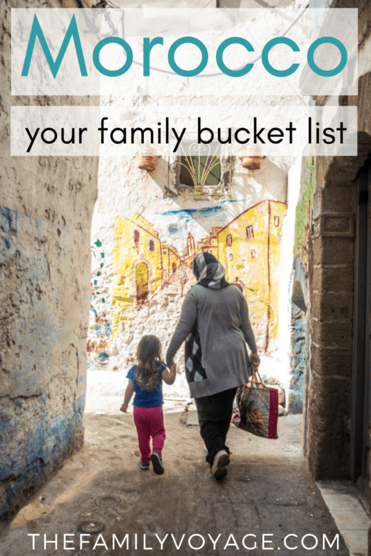 Don't miss this Morocco family travel bucket list! We'll show you favorites from 8 bloggers with different budgets, interests and ages. Click to read or pin it for later! #Morocco #Africa #Marrakech #Fez #Essaouira #familytravel #travel #travelplanning
