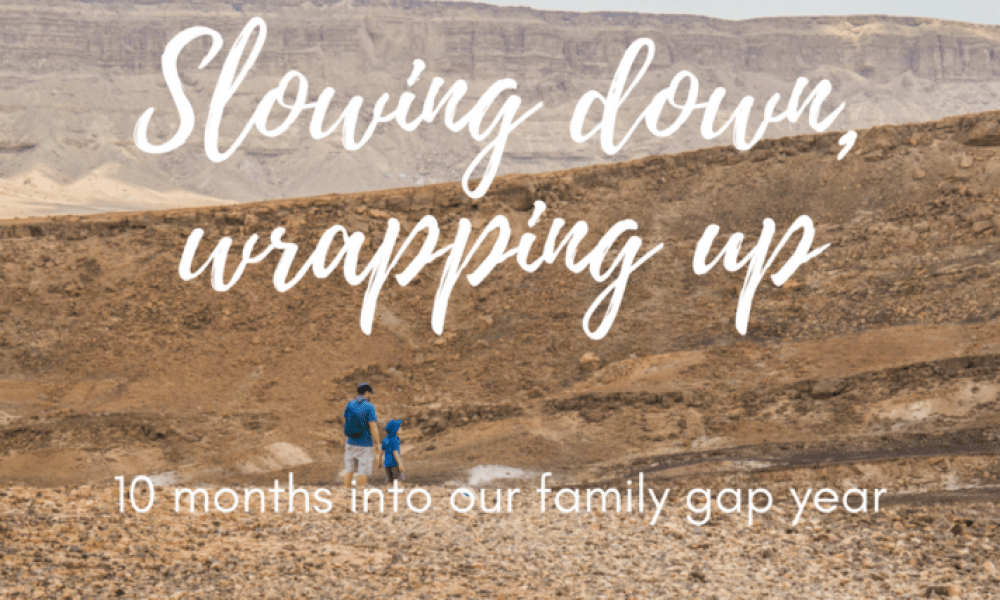 Slowing down and wrapping up