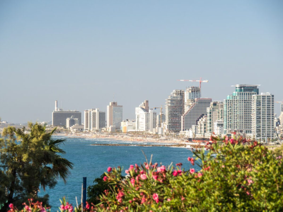Tel Aviv coastal view from the Sultan's Garden in Yafo