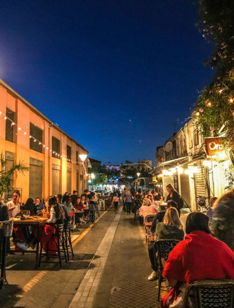 eating at the Jaffa flea market restaurants
