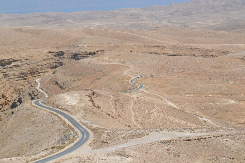 Highway through the Negev Desert in Israel. #Israel #Negev #SouthernIsrael #Desert